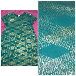Carly XL green dress lularoe elegant. Excellent co